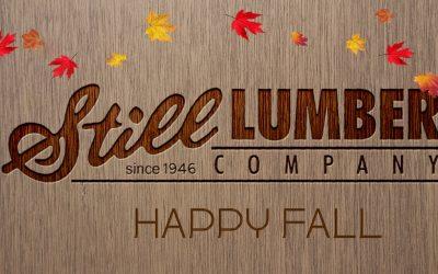 Happy Fall from Still Lumber