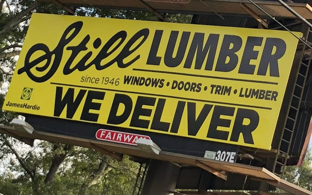 Like our sign says, we deliver!